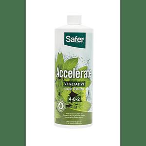 Safer Brand   Accelerate (4-0-2) Hydroponic Liquid Nutrient Fertilizer Concentrate - 32oz  Safer® Brand