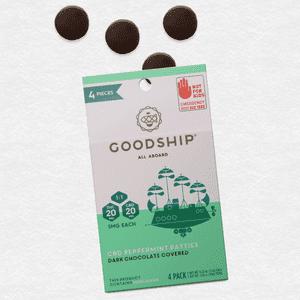 Goodship   CBD Dark Chocolate Covered Peppermint Patties 12pk