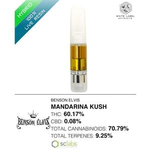 White Label Extracts   Mandarina Kush | 100% Live Resin Cartridge (0.5g)