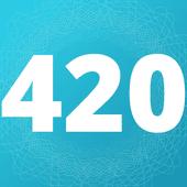 Logo for 420EvaluationsOnline - Orange