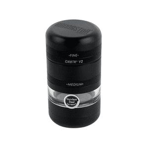 Kannastör®   Kannastör® GR8TR® V2 Jar Body w/Stainless Easy Change Screen™ in Matte Black