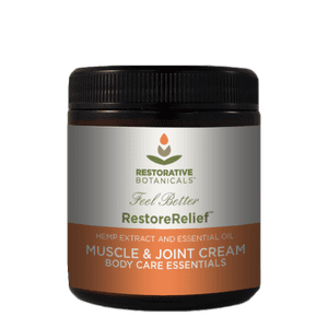 Restorative Botanicals   Certified USA Grown Hemp Restore Relief™ Muscle & Joint Cream