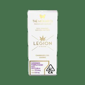 Legion of Bloom   Monarch-.5 Gram Vape cartridge- Hawaiian Purple Kush