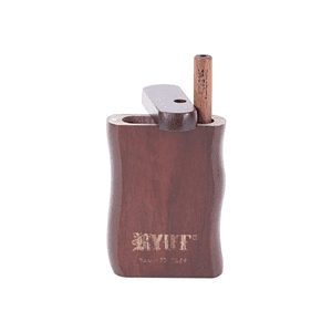 RYOT®   RYOT® Wooden Taster Box Short in Walnut with Matching One Hitter