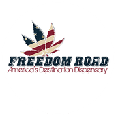 Logo for Freedom Road Dispensary on Main