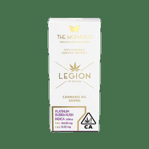 Legion of Bloom   Monarch .5 Gram Vape cartridge- Platinum Bubba Kush