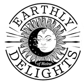 Logo for Earthly Delights of Maine