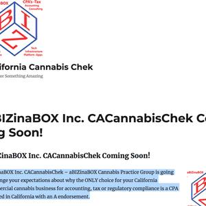 aBIZinaBOX CPA's - Cannabis Practice Group   CaliforniaCannabisChek