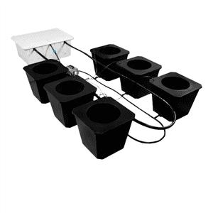Super Closet   6-Site Bubble Flow Buckets Hydroponic Grow System