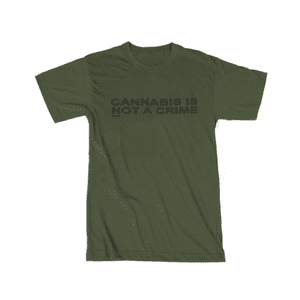RYOT®   RYOT® NOT A CRIME Tee Shirt in Military Green
