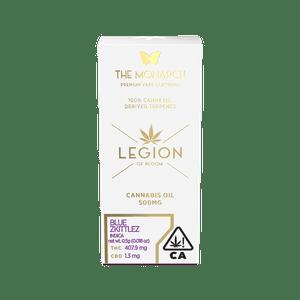 Legion of Bloom   Monarch .5 Gram Vape cartridge- Blue Zkittlez