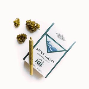 Pure CBD Exchange   Aspen Valley Pre-Rolled Hemp CBD Flower Joints - Suver Haze