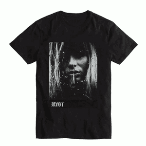 RYOT®   RYOT® Tee Shirt in Black with Smokin' Girl Image