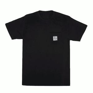Kannastör®   KANNASTOR® Logo POCKET Tee Shirt in Black