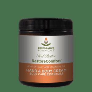 Restorative Botanicals   USA HEMP Restore Comfort™ Hand & Body Cream, Certified Hemp from Colorado
