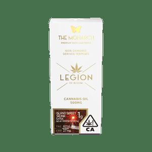 Legion of Bloom   Monarch 1Gram Vape cartridge- Island Sweet Skunk