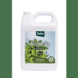 Safer Brand   Accelerate (4-0-2) Hydroponic Liquid Nutrient Fertilizer Concentrate - 1 gallon   Safer® Brand