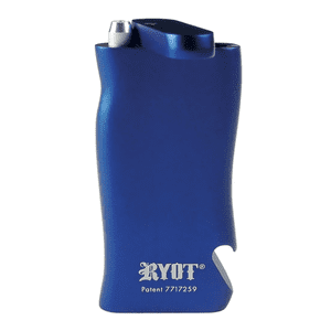 """RYOT®   RYOT® Aluminum """"SUPER"""" Taster Box with Bottle Opener in MATTE BLUE with Aluminum Bat"""