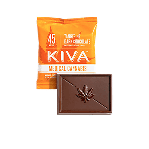 Kiva Confections   Tangerine Dark Chocolate 45mg Mini