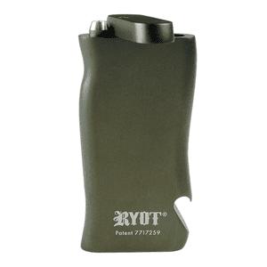 "RYOT®   RYOT® Aluminum ""SUPER"" Taster Box with Bottle Opener in GUNMETAL with Aluminum Bat"