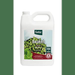 Safer Brand   Awaken (3-1-5) Hydroponic Liquid Nutrient Fertilizer Concentrate - 1 gallon   Safer® Brand