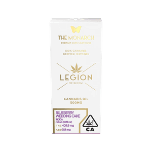 Legion of Bloom   Monarch .5 Gram Vape cartridge- Blueberry Wedding Cake