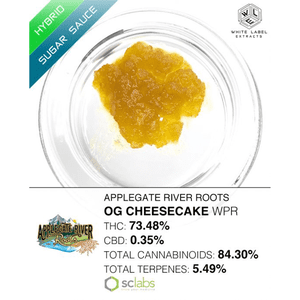 White Label Extracts   OG Cheesecake | Sugar Sauce (Whole Plant Run)