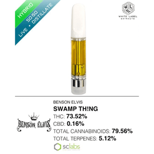 White Label Extracts   Swamp Th!ng | 50:50 LR:DSTL Cartridge (1g)