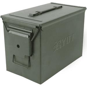 "RYOT®   RYOT® ""Destroyer"" Waterproof Large Ammo Can w/ Pick-n-Pluck Foam w/ Branding in Olive"