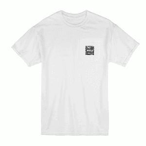 Kannastör®   KANNASTOR® Logo POCKET Tee Shirt in White